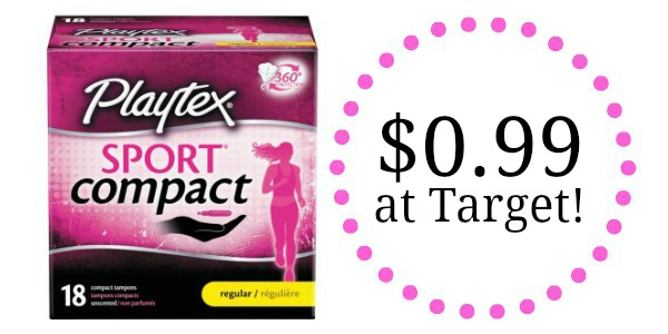 target  playtex products only  0 99