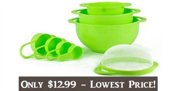 Set of 8 Compact Nesting Mixing Bowls