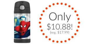 Spiderman Thermos Funtainer 12 Ounce Bottle Only $10.88!