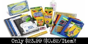 Third through Fifth Grade Classroom Supply Pack Only $23.99 ($0.82 per Item)!