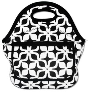 White & Black Insulated Waterproof Lunch Bag Only $9.99! Best Price!