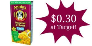 Target: Annie's Macaroni & Cheese Only $0.30!