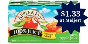 Meijer: Apple & Eve Juice Boxes Only $1.33!