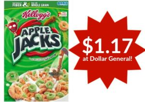 Dollar General: Apple Jacks Cereal Only $1.17!