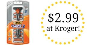 Kroger: Bic Hybrid 3 Comfort Razors Only $2.99!