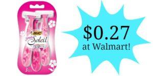 Walmart: BIC Disposable Razors Only $0.27!