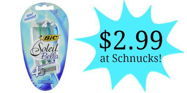 Schnucks: Bic Soleil Razors Only $2.99!