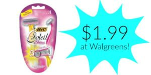 Walgreens: Bic Soleil Shine Razors Only $1.99!