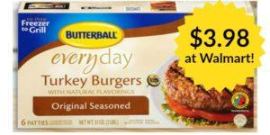 Walmart: Butterball Frozen Turkey Burgers Only $3.98!