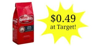 Target: Community Coffee Only $0.49!