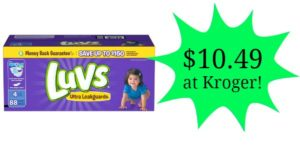 Kroger: Luvs Diapers – Boxes Only $10.49!