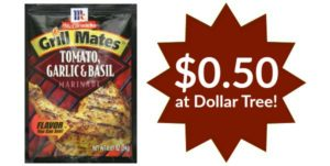 Dollar Tree: McCormick Grill Mates Marinades Only $0.50!