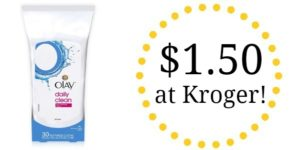 Kroger: Olay Daily Clean Facial Cleansing Cloths Only $1.50!