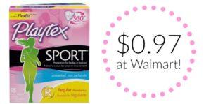 Walmart: Playtex Sport Tampons Only $0.97!