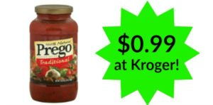 Kroger: Prego Pasta Sauce Only $0.99!