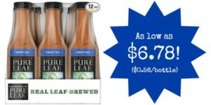 Pack of 12 Pure Leaf Iced Tea Bottles as low as $6.78!