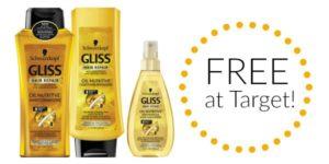 FREE Schwarzkopf Gliss Shampoo or Conditioner at Target!