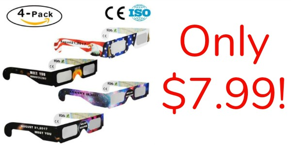 Solar Eclipse Glasses 4-Pack Only USD7.99! - Become a Coupon ...