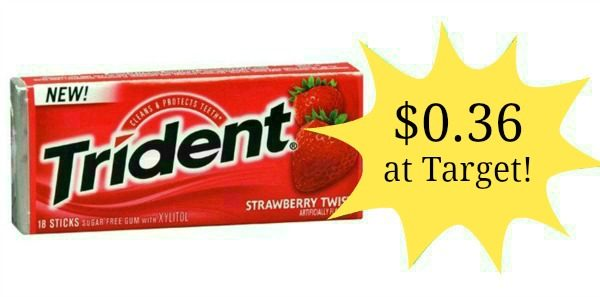 photograph about Trident Coupons Printable called Emphasis: Trident Gum Merely $0.36! - Turn out to be a Coupon Queen