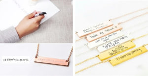 Hand Writing Bar Necklace – Was $39.99 – Ships for $18.48! Great Gift Idea!