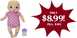 **HOT** Baby Alive Luv 'n Snuggle Baby Doll Only $8.99 (Reg. $40)!