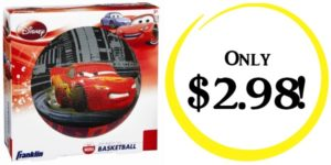 Disney/Pixar Cars Mini Rubber Basketball Only $2.98!