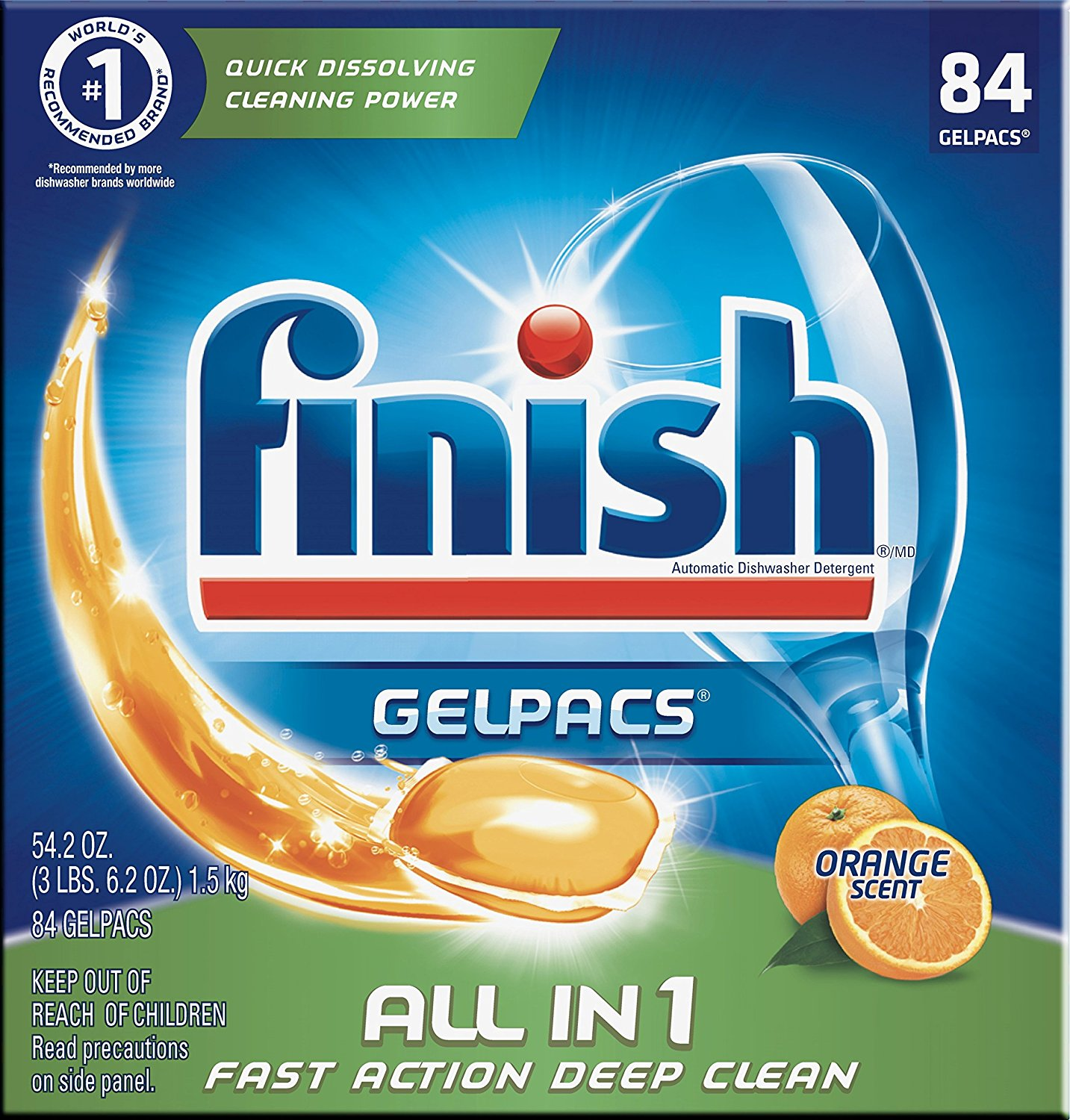 Finish All In 1 Gelpacs 84-Count as low as $8.07 ($0.10