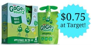 Target: GoGo squeeZ 4-pack Only $0.75!