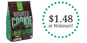 Walmart: HERSHEY'S Cookie Layer Crunch 6.3oz Only $1.48! (57% Savings)