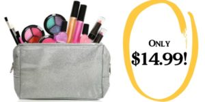 Kids Washable Makeup Set with Glitter Cosmetic Bag Only $14.99!