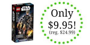 LEGO Star Wars Jyn Erso Only $9.95! (reg. $24.99)