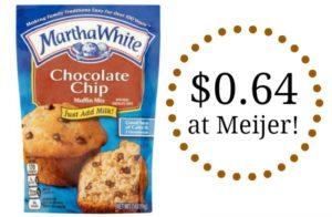 Meijer: Martha White Baking Mixes Only $0.64!