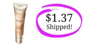 Maybelline Dream Velvet Soft-Matte Hydrating Foundation as low as $1.37 Shipped!