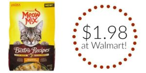 Walmart: Meow Mix Bistro Recipes Dry Cat Food Only $1.98!