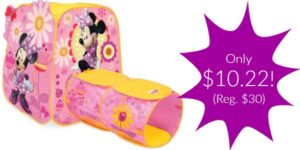 Minnie Mouse Play Tent Only $10.22 (Reg. $30)!