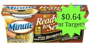 Target: Minute Ready to Serve Rice Only $0.64!