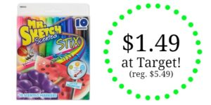 Target: Mr. Sketch Scented Stix Markers 10 count Only $1.49!