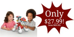 Paw Patrol, Zoomer Marshall Only $27.99 Shipped! (reg. $69.99)