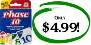 Phase 10 Card Game Only $4.99! (reg. $9.99)