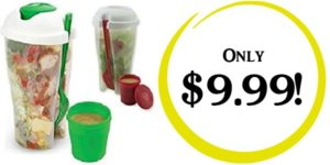 Salad to Go Containers 2-Pack Only $9.99!