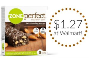 Walmart: ZonePerfect Snack Bars 5-count Only $1.27!!