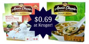 Kroger: Annie Chun Products as low as $0.69!