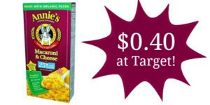 Target: Annie's Macaroni & Cheese Only $0.40!