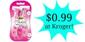 Kroger: Bic Simply Soleil Razors Only $0.99!