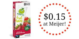 Meijer: Buddy Fruit Fruit Tubes Only $0.15!