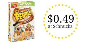 Schnucks: Post Cinnamon Pebbles Cereal Only $0.49!