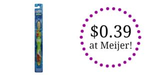 Meijer: Crest Kids Toothbrush Only $0.39!