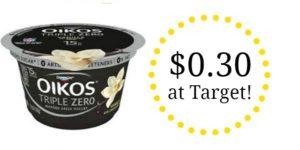 Target: Dannon Oikos Yogurt Only $0.30!
