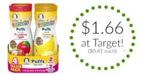 Target: Gerber Graduates Lil Puffs Only $0.41!