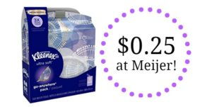 Meijer: Kleenex Go Anywhere Only $0.25!